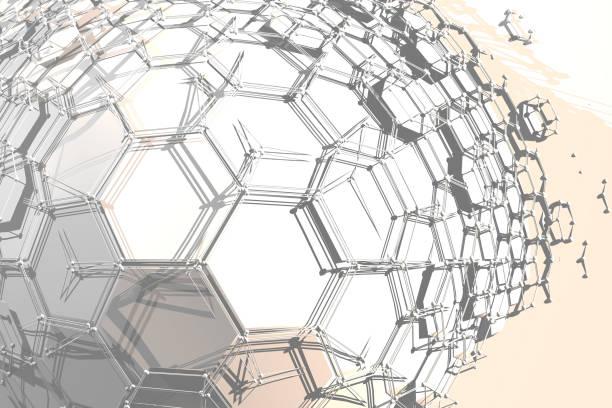 Hexagonal Bulging Texture stock photo