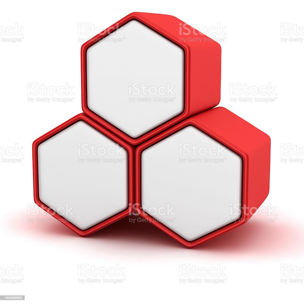 Hexagonal cells royalty-free stock photo