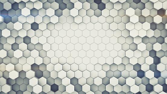 Sechseckigen Zellen Wand Abstrakte 3drendering Stockfoto und mehr Bilder von Abstrakt