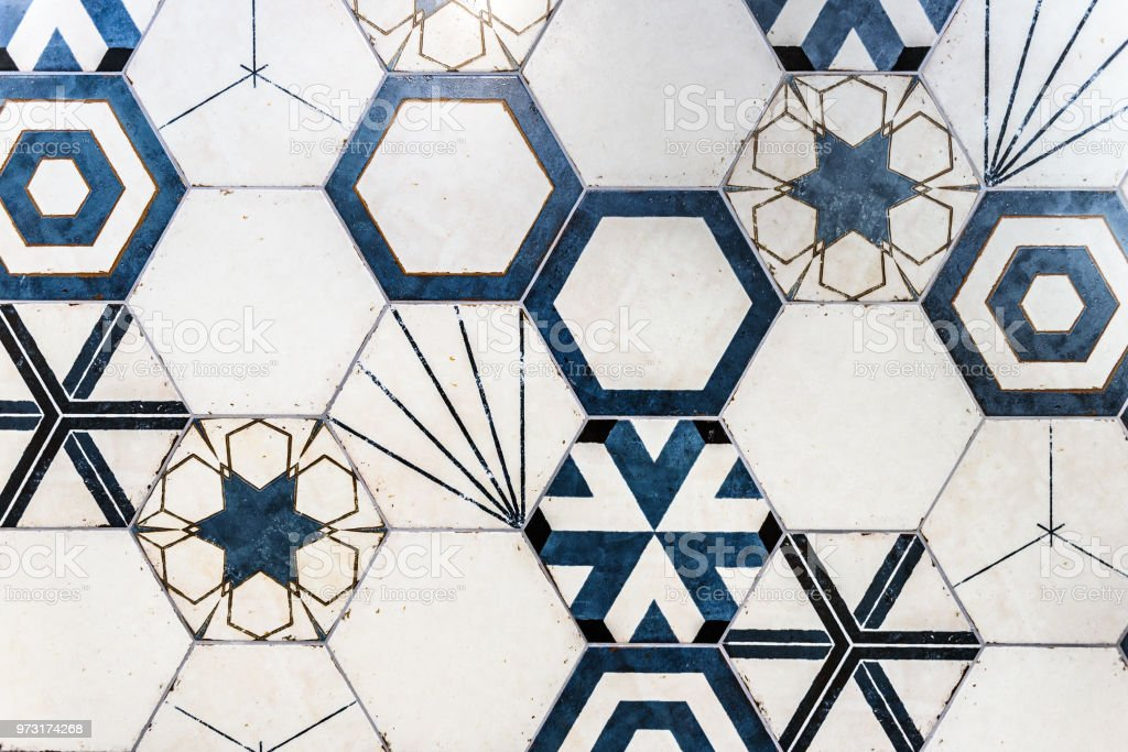Hexagonal Colorful Modern Bathroom Toilette Or Kitchen Ceramic Tiles Wall Stock Photo Download Image Now Istock