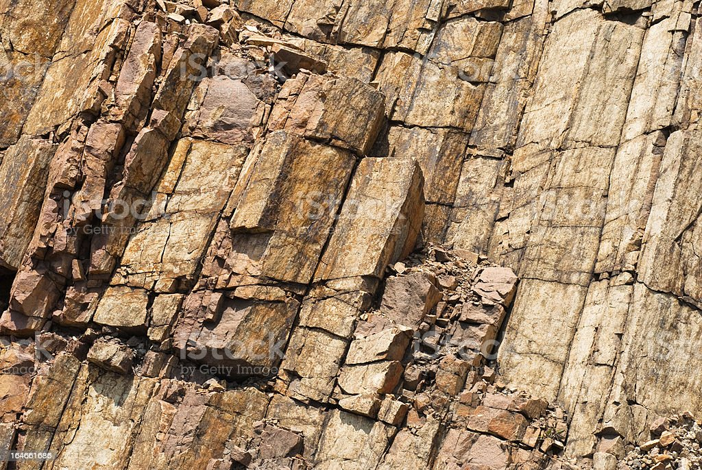 Hexagonal columnar royalty-free stock photo