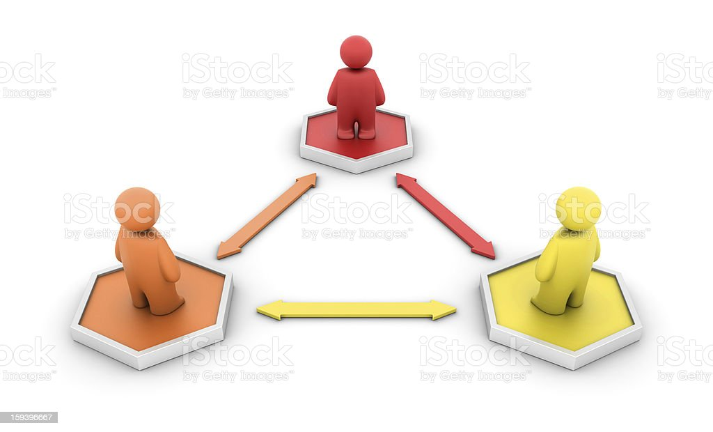 Hexagonal Diagram with People royalty-free stock photo