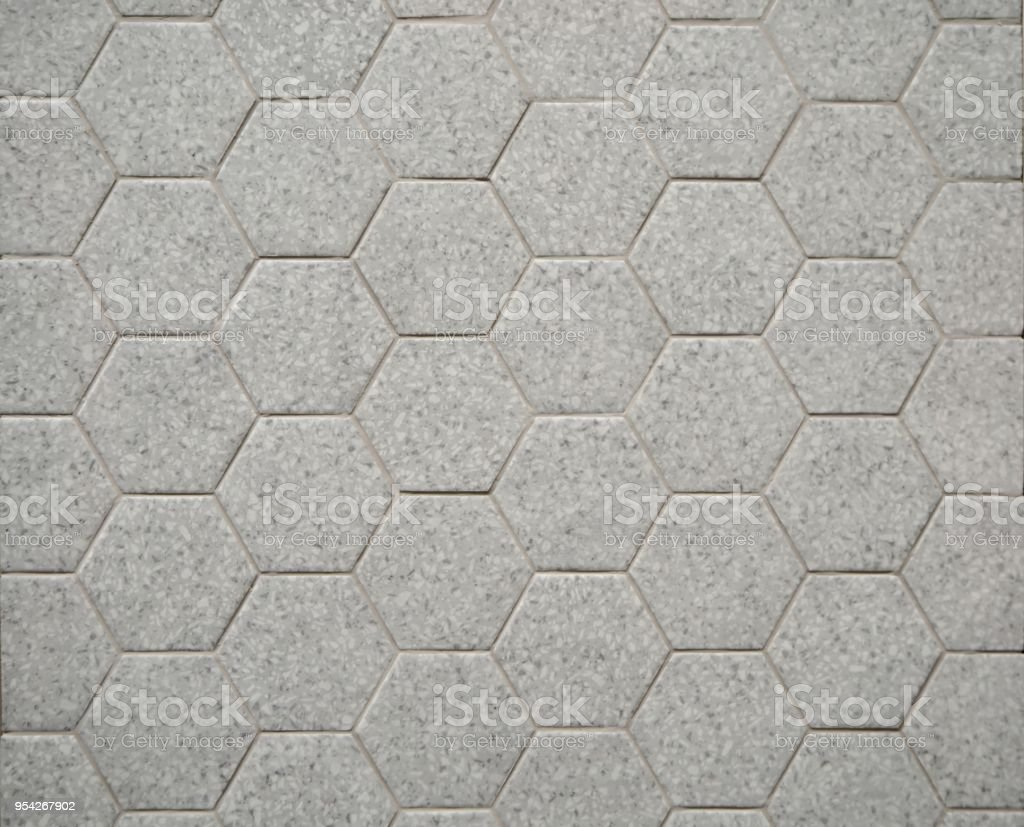 Hexagonal Granite Tiles In Light Gray Color Mainly Used In Bathrooms