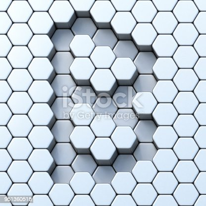 845304606 istock photo Hexagonal grid letter B 3D 951360518