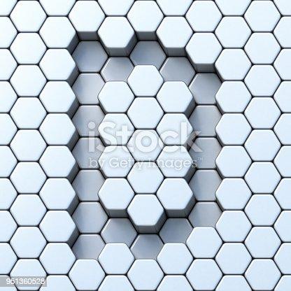 583978154istockphoto Hexagonal grid letter D 3D 951360528