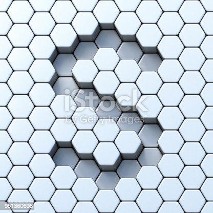 583978586 istock photo Hexagonal grid letter S 3D 951360698
