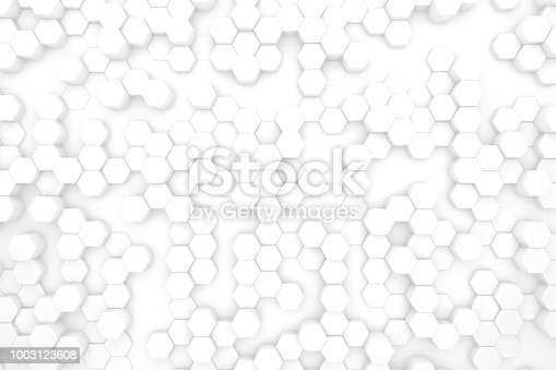 905438692 istock photo Hexagonal, Honeycomb Abstract 3D Background 1003123608