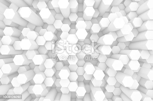 905438692 istock photo Hexagonal, Honeycomb Abstract 3D Background 1003126292