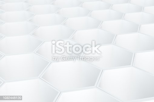 istock Hexagonal, Honeycomb Abstract 3D Background 1032445120