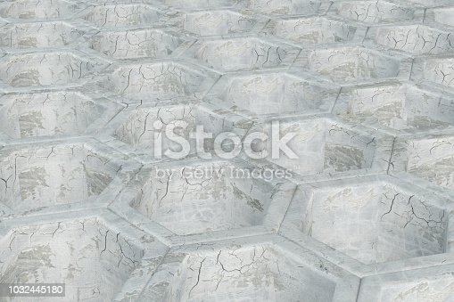 istock Hexagonal, Honeycomb Abstract 3D Background 1032445180