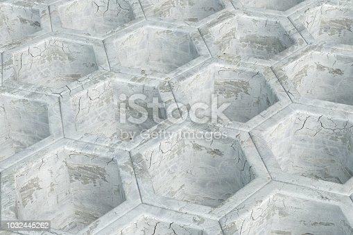 istock Hexagonal, Honeycomb Abstract 3D Background 1032445262