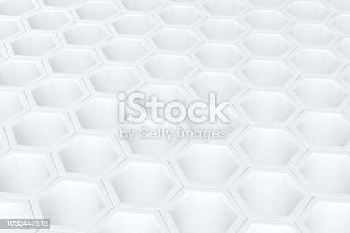 istock Hexagonal, Honeycomb Abstract 3D Background 1032447818