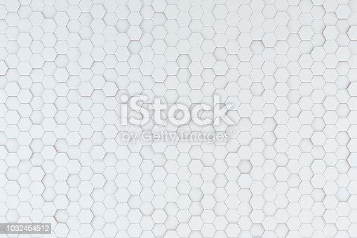 istock Hexagonal, Honeycomb Abstract 3D Background 1032454512