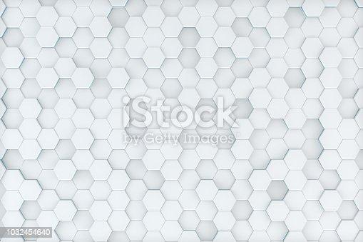 istock Hexagonal, Honeycomb Abstract 3D Background 1032454640