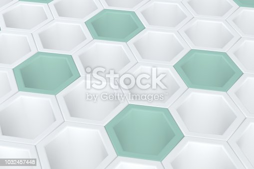 869478294 istock photo Hexagonal, Honeycomb Abstract 3D Background 1032457448