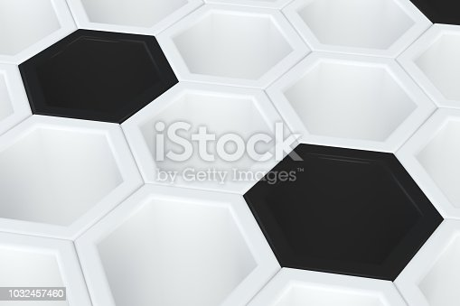 istock Hexagonal, Honeycomb Abstract 3D Background 1032457460