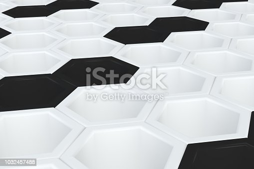 905438692 istock photo Hexagonal, Honeycomb Abstract 3D Background 1032457488