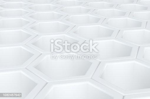 istock Hexagonal, Honeycomb Abstract 3D Background 1032457542