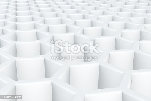 istock Hexagonal, Honeycomb Abstract 3D Background 1032460322