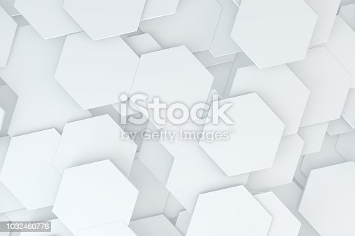 905438692 istock photo Hexagonal, Honeycomb Abstract 3D Background 1032460776