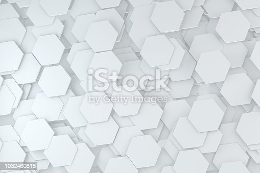905438692 istock photo Hexagonal, Honeycomb Abstract 3D Background 1032460818
