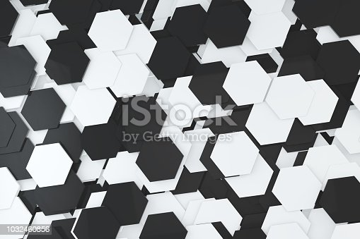 905438692 istock photo Hexagonal, Honeycomb Abstract 3D Background 1032460856