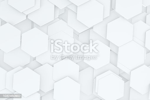 905438692 istock photo Hexagonal, Honeycomb Abstract 3D Background 1032460902