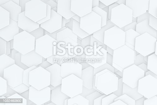 905438692 istock photo Hexagonal, Honeycomb Abstract 3D Background 1032460932