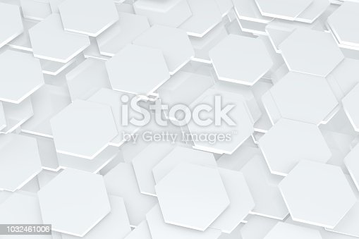 istock Hexagonal, Honeycomb Abstract 3D Background 1032461006