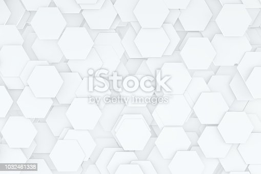 istock Hexagonal, Honeycomb Abstract 3D Background 1032461338