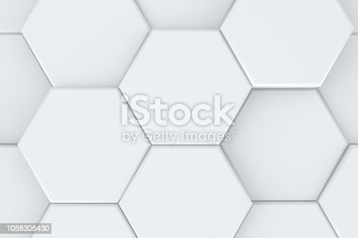 905438692 istock photo Hexagonal, Honeycomb Abstract 3D Background 1058305430