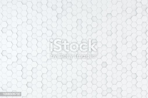 905438692 istock photo Hexagonal, Honeycomb Abstract 3D Background 1058305732