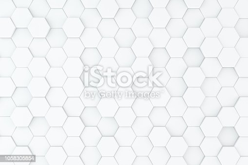 905438692 istock photo Hexagonal, Honeycomb Abstract 3D Background 1058305854