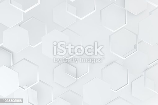 905438692 istock photo Hexagonal, Honeycomb Abstract 3D Background 1058305968