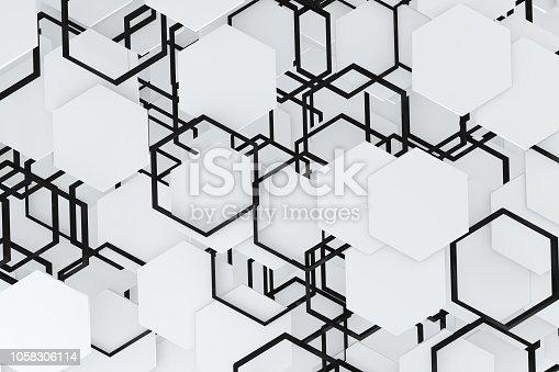 istock Hexagonal, Honeycomb Abstract 3D Background 1058306114