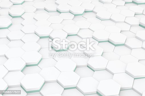 istock Hexagonal, Honeycomb Abstract 3D Background 1058377522
