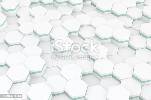istock Hexagonal, Honeycomb Abstract 3D Background 1058377640