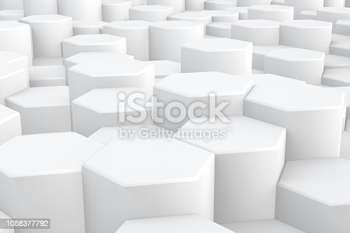 905438692 istock photo Hexagonal, Honeycomb Abstract 3D Background 1058377792
