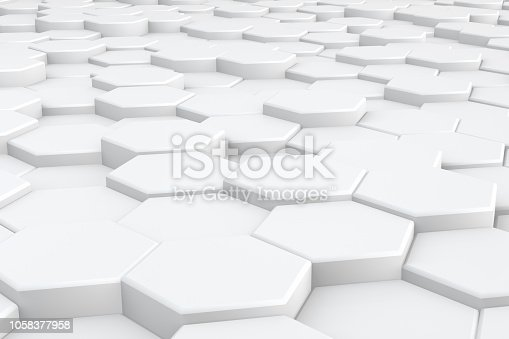 905438692 istock photo Hexagonal, Honeycomb Abstract 3D Background 1058377958