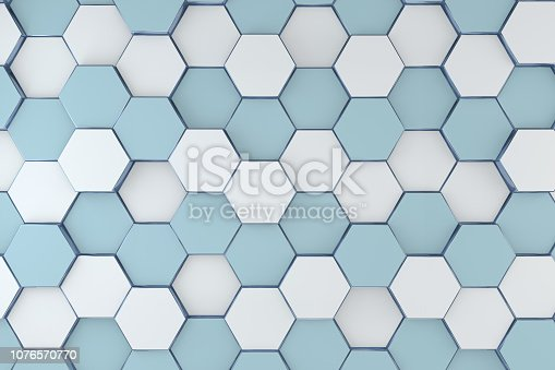 istock Hexagonal, Honeycomb Abstract 3D Background 1076570770