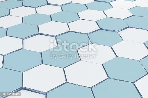 istock Hexagonal, Honeycomb Abstract 3D Background 1076570920