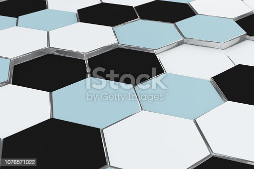 istock Hexagonal, Honeycomb Abstract 3D Background 1076571022