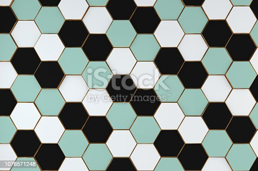 istock Hexagonal, Honeycomb Abstract 3D Background 1076571248