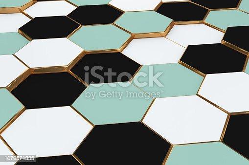 istock Hexagonal, Honeycomb Abstract 3D Background 1076571338