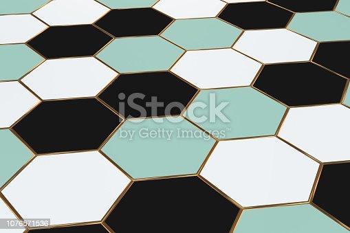 istock Hexagonal, Honeycomb Abstract 3D Background 1076571536