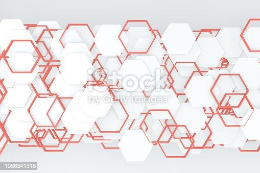 istock Hexagonal, Honeycomb Abstract 3D Background 1086341318
