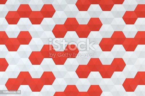 istock Hexagonal, Honeycomb Abstract 3D Background 1089223216