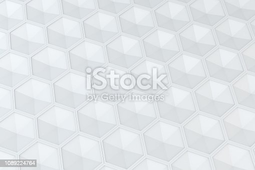 905438692 istock photo Hexagonal, Honeycomb Abstract 3D Background 1089224764