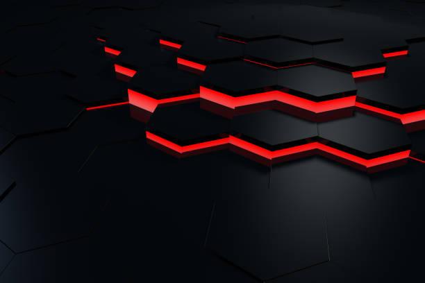 Sechseckige, Waben-abstrakten 3D Hintergrund – Foto