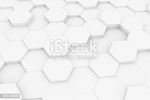 905438692 istock photo Hexagonal, Honeycomb Abstract 3D Background 905438686